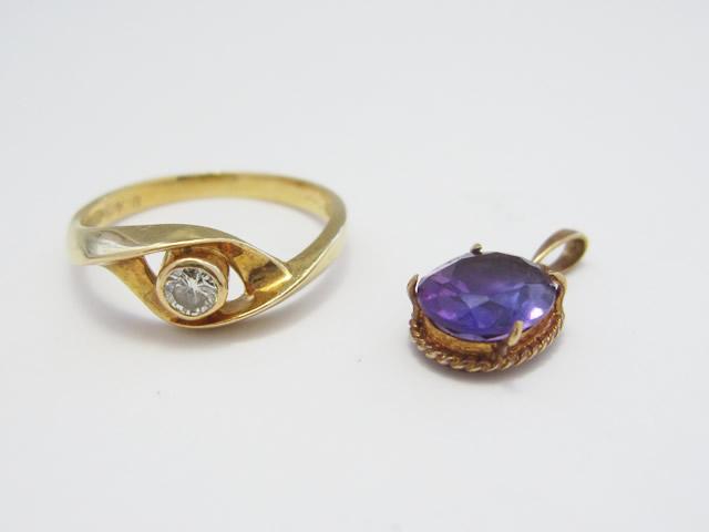 【Before】理想のデザインを現実に!アメジストとダイヤモンドを使って、ペンダント作成しました。