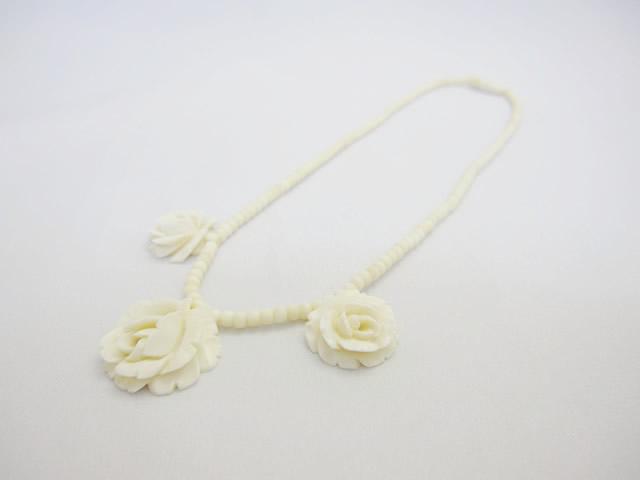 【After】象牙ネックレスの糸交換