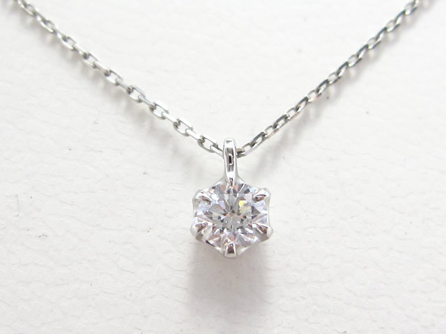 【After】ダイヤリングをペンダントへ!綺麗なダイヤモンドの輝きをペンダントで生かしました。