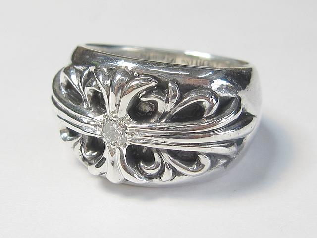 【After】SV製リングの石留めカスタム  グレードアップ!お気に入りの指輪にダイヤを追加しました。